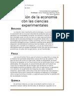 Relación de la economía con las ciencias experimentales