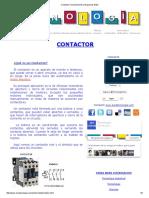 Contactor Funcionamiento y Esquemas Motor