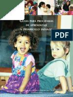 Guias para pragramas de aprendizaje de Desarrollo Infantil