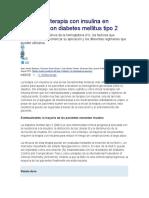 Inicio Terapia Insulina Diabetes Mellitus Tipo 2
