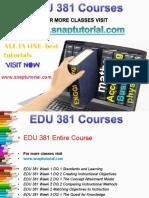 EDU 381 Academic Success/snaptutorial