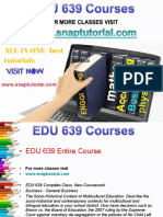 EDU 639 Academic Success/snaptutorial