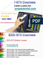 EDU 673 Academic Success/snaptutorial