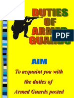 Duties Of Armed guard in Bank