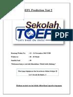 TOEFL Prediction Test 2