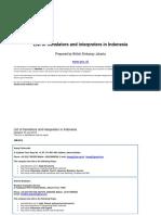 List of Sworn Translators and Intepreters 2