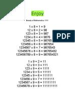 Mathematics Beauty