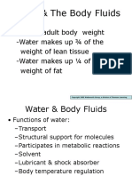 Water & the Body Fluids