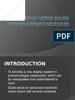 Electronic Notice Board With Multi Point Receivers Ppt