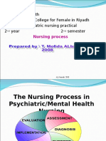 Psychiatric Nursing Process