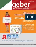 Ratgeber aus Ihrer Malteser-Apotheke – Februar 2016