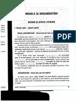 Modele si argumentari genuri si specii, (I)