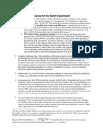 Minimum Report Requirements for Batch Experiment