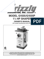 Grizzly Shaper Manual