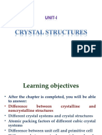 Crystalstructures for Class