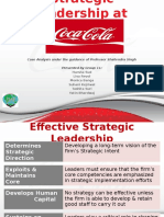 Strategic Leadership at Coca Cola