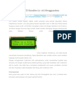 Pemrograman LCD Karakter