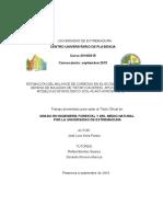 Estimacion Del Balance de Carbono Dehesa Majadas. Aplicacion del modelo SPA