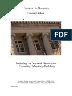 Disertation Guidlines