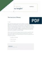Iron Law of Money GoldMoney Insights