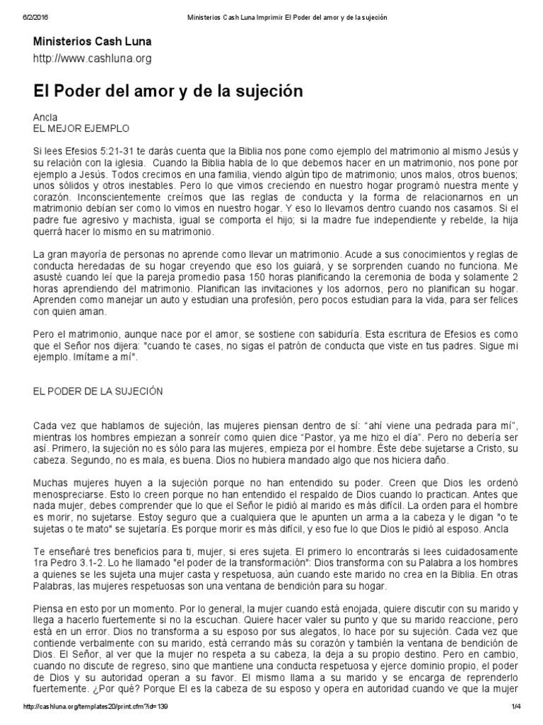 Ministerios Cash Luna Imprimir El Poder Del Amor y de La