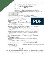 QUESTION BANK FOR MATHEMATICS - II REGULATION 2013