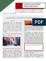 Aspartame y Sus Efectos Neurologicos