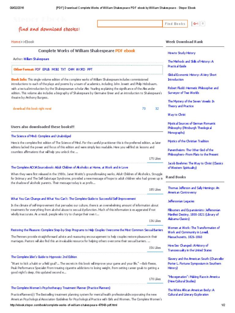 Pdf download complete works of william shakespeare pdf ebook by pdf download complete works of william shakespeare pdf ebook by william shakespeare stepor ebook sigmund freud psychoanalysis fandeluxe Gallery