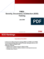 FMEA - SOD Training - Unibody