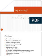 Programming 1_Lecture 1