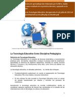13262055La Tecnología Educativa Como Disciplina Pedagógica