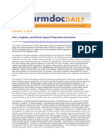 Fdd100214Corn, Soybean, And Wheat Export Projections Increased