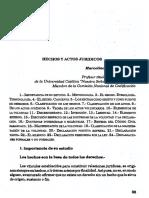 Marcelino Gauto Hechos y Actos Jurídicos