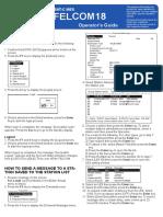 Felcom18 Operators' Guide