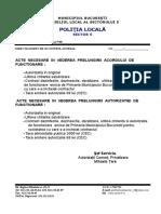 Acte Necesare in Vederea Prelungirii Acordului Sau Autorizatiei de Functionare