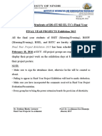 Final Year Projects Exhibition Notification 2015