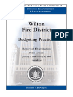 N.Y. Comptroller report on Wilton Fire District budget practices
