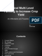 Vertical Multi-Level Farming to Increase Crop Yield