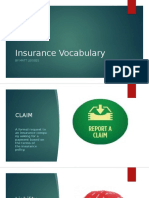 insurance vocabulary