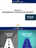 2016-17 Budget Presentation by Budget Secretary Randy Albright