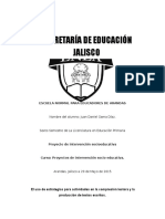 proyecto de Intervención Socio educativa (Diagnostico)