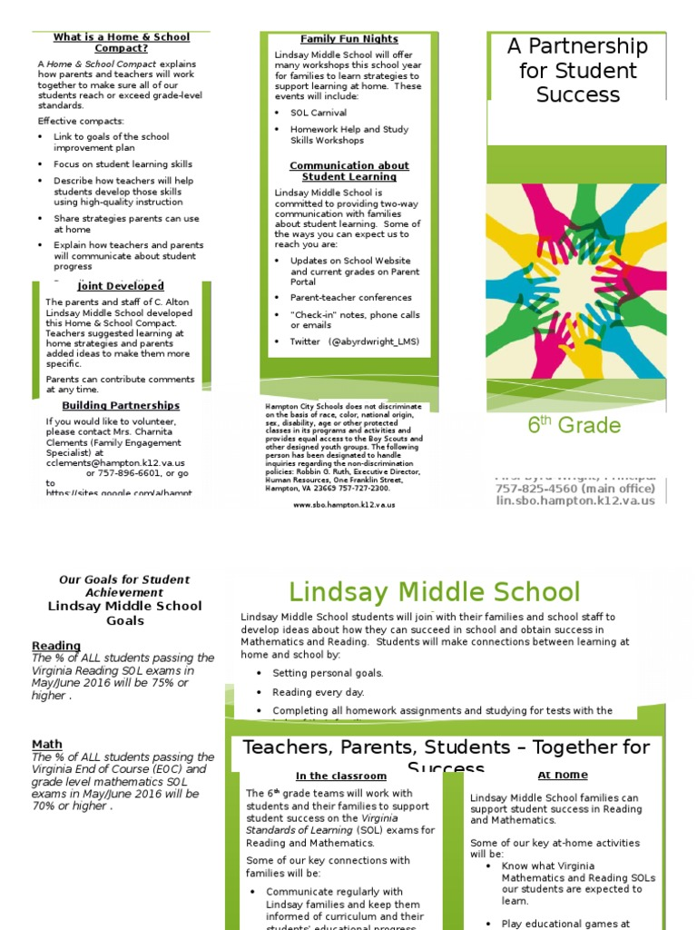 LMS 6th Grade Compact 2015-2016   Homework   Education Theory