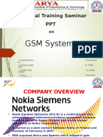 GSM System PPT