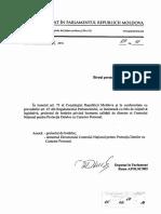 Proiect de Hotărâre privind încetarea calității de director al CNPDCP