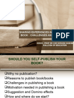 sharing experiences publishing a book