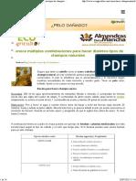 Plantas y Aceites Esenciales Para Champú