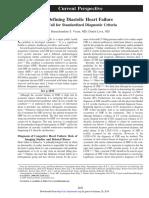Defining Diastolic Heart Failure