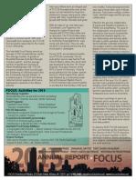 2015 FOCUS Annual Report