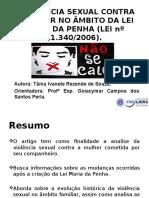 Slides Tccii - Tânia I G Rezende de Souza