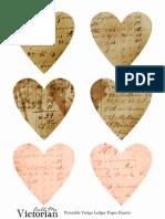 Printable Ledger Paper Hearts